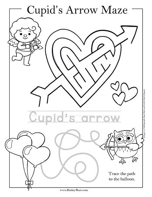 Free Printable Valentine S Day Mazes And Activity Pages For Kids This Coll Valentines Printables Free Kids Kindergarten Valentines Valentines Printables Free Valentine day worksheets preschool