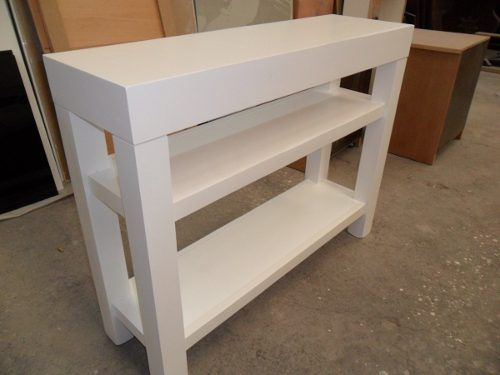 Mesa de arrime recibidor madera pino mesas - Mesa de pino ...