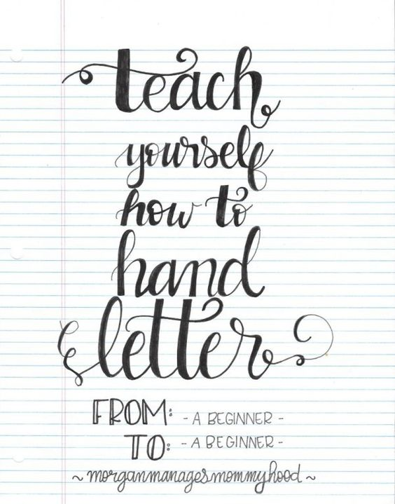 Teach yourself how to hand letter scrapbooking handmade