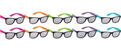 Totally 80s Neon Sunglasses 10ct - Party City