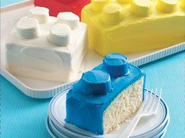 Lego Cakes... this one is for you moms who don't have a lot of time or just like quick and easy. The kiddos will love it!