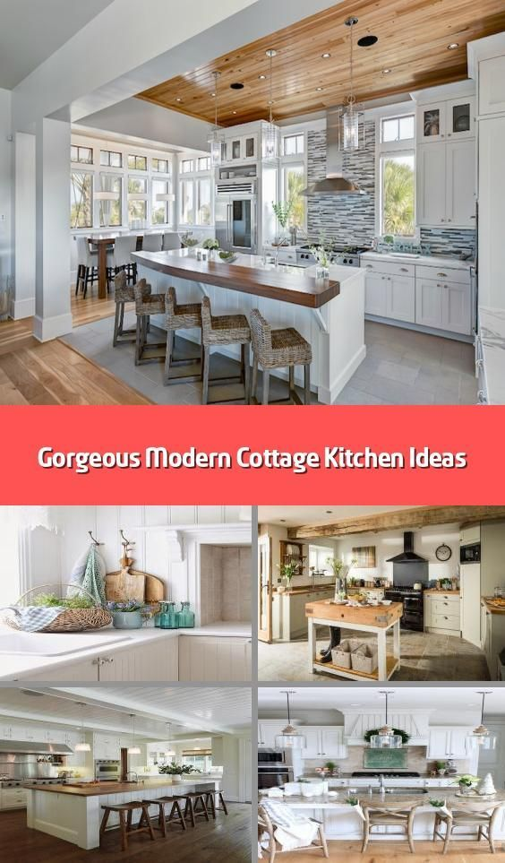 Gorgeous Modern Cottage Kitchen Ideas Theres A Timeless Charm About Those K Charm Cottage Kitchen Cottage Kitchens Modern Cottage