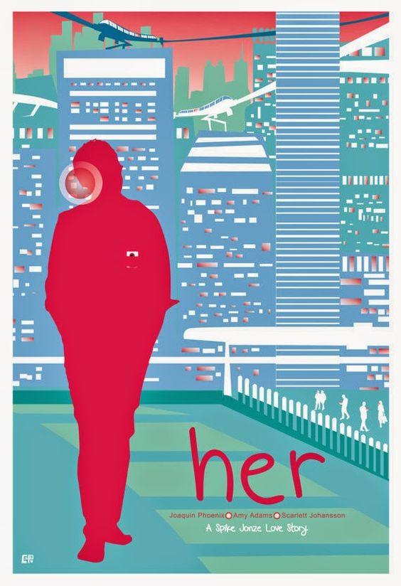 """Fan poster de """"Her"""", personalmente creo que capta muy bien la peli"""