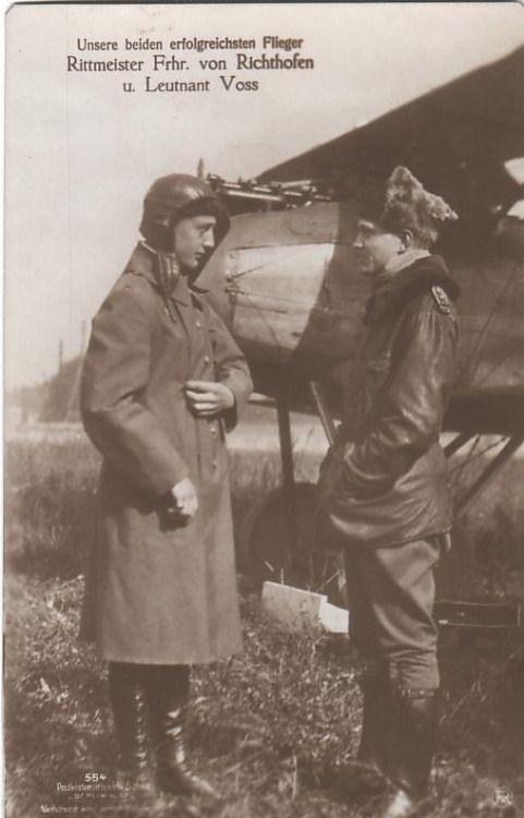 Werner Voss and Freiherr von Richthofen