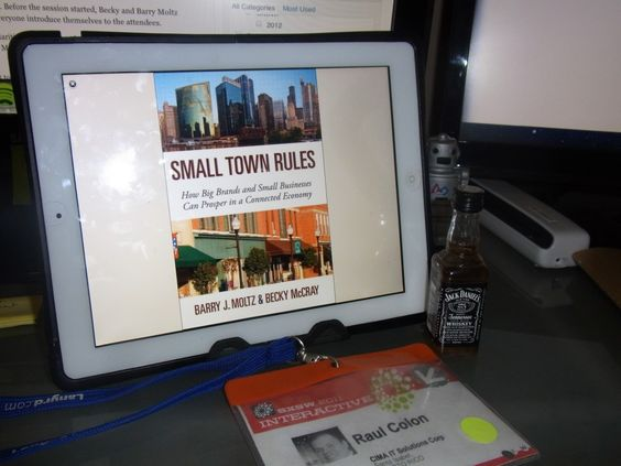 Great book (Small Town Rules) and Jack Daniels!