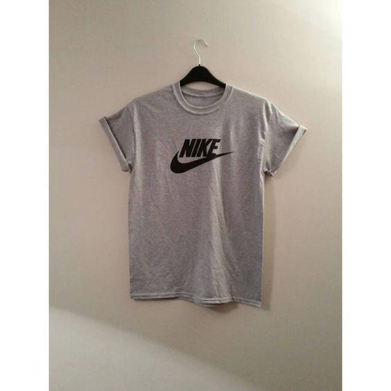 Unisex Nike T Shirt Sz Medium Festival Fashion Ibiza (27 AUD) ❤ liked on Polyvore featuring tops, t-shirts, black, women's clothing, grunge t shirts, unisex t shirts, black top, unisex tees and unisex tops