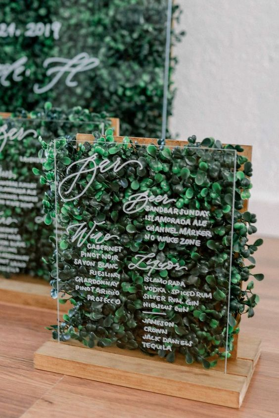 Creative Wedding Bar Signs to Style Your Cocktail Decor, aefd5e166364440bb84319183a9fb052