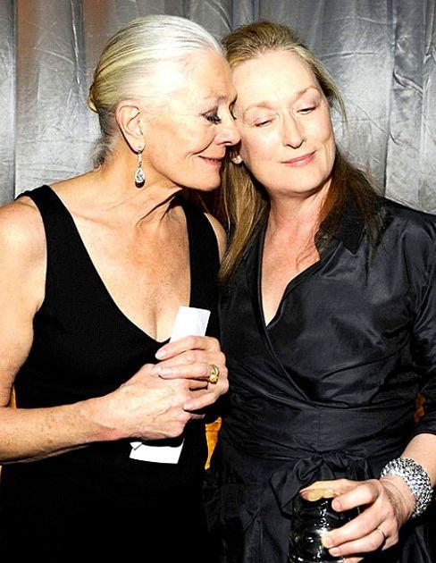 Vanessa Redgrave 76 & Meryl Streep 65