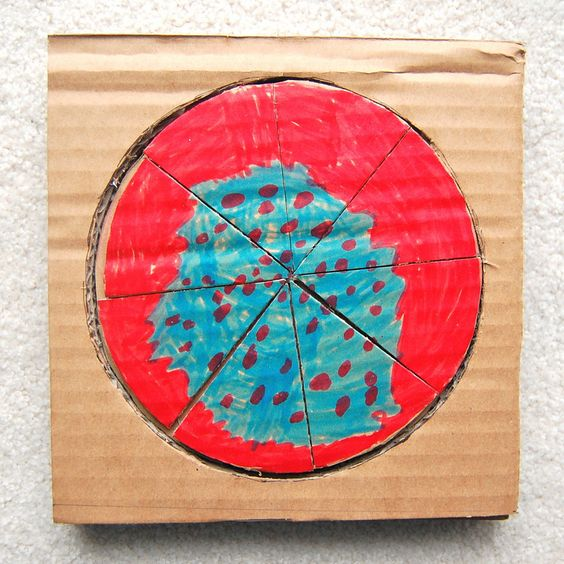 ikat bag: Cardboard Fractions