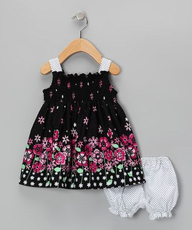 Take a look at this Black Cherie Dress & Bloomers - Infant by Joe-Ella on #zulily today!