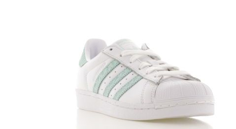 adidas Superstar Wit/Groen Dames 59,95 www.sneakers.nl ...