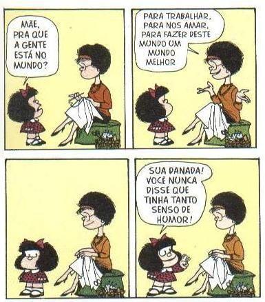 Tirinhas da Mafalda: