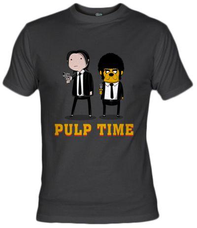 Camiseta Pulp Time (por Melonseta) adventure time, pulp fitcion, fanisetas.com, jake and finn