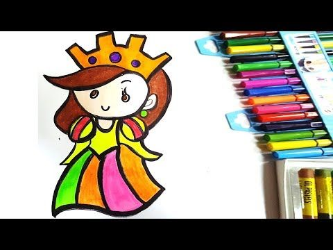 Doll Drawing Coloring And Painting L Preschool Learning Videos L Yourtube School Youtube Doll Drawing Preschool Learning Learning Colors