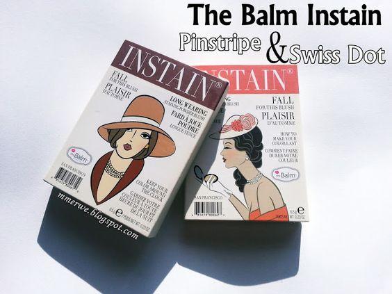 mmerwe: The Balm Instain Blush / Allıklar - Pinstripe & Swiss Dot