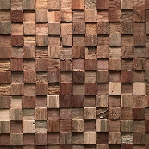 Ultrawood Teak Square 8715597010494 Mur Design Plaquette De Parement En Bois Parement Plaquetteparement Bois D Teak Wood Wall Decor Wood Paneling