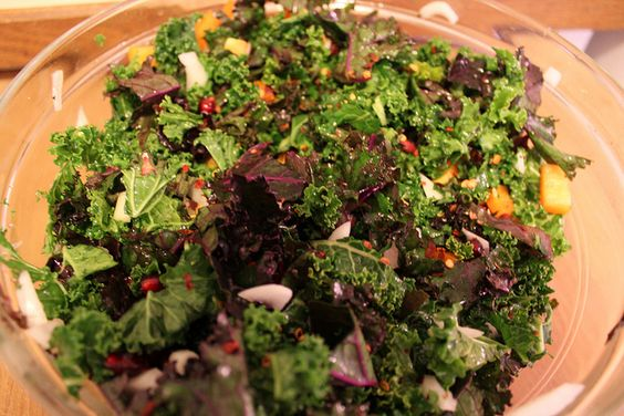 kale salad with honey lemon dressing | f a t * k i d s * u n i t e ...