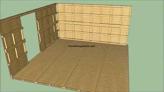 Construire une cabane de jardin en palettes diy pinterest montres comment et youtubers - Construire une table de jardin en bois ...