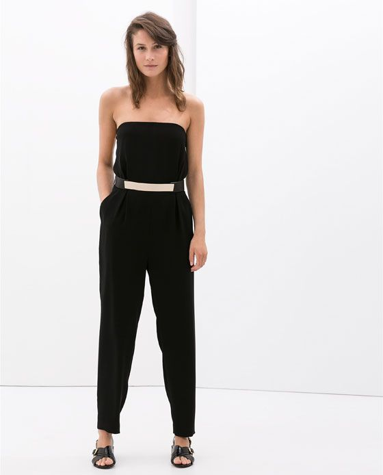 STRAPLESS LONG JUMPSUIT - Jumpsuits - WOMAN | ZARA United States ...
