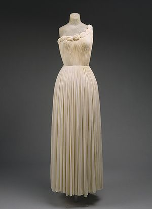 Evening gown, 1958  Madame Grès (Alix Barton) (French, 1903–1993)  White silk jersey
