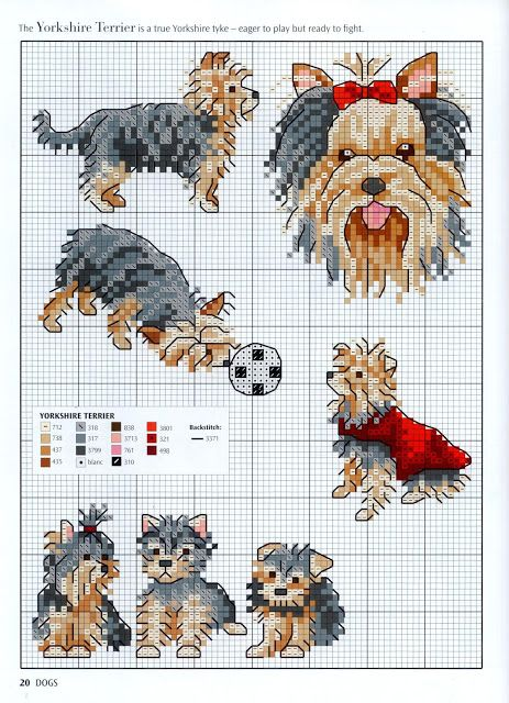 Cross Stitch Dogs Chart