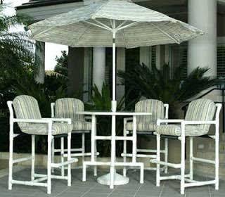 Pvc Bar Height Patio Furniture