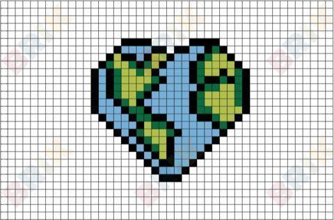 Herz Pixel Art Pixel In 2020 Bugelperlen Bilder Kreuzstichmuster Muster Malen