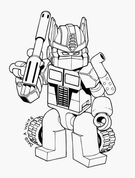 Transformer Optimus Prime Coloring Pages Free Lego