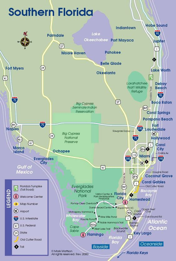 South Florida Map – Florida Travel Map