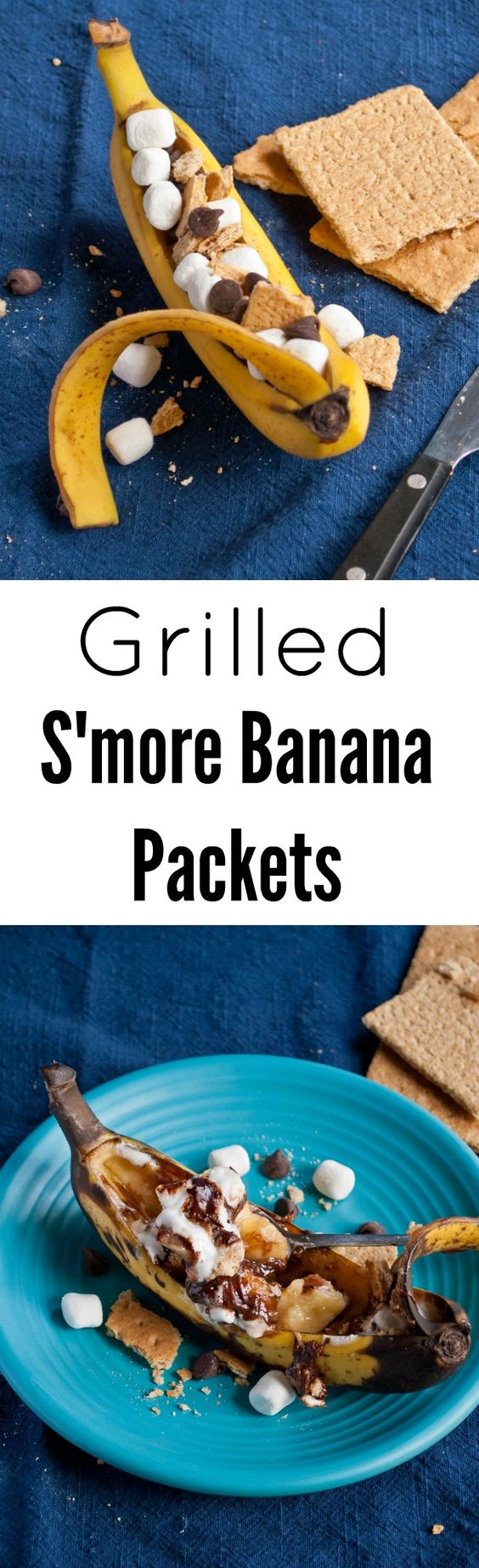 These Grilled S'more Banana Packets are such a fun and easy dessert ...