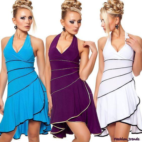 Salsa Latino Neckholder Kleid Cocktailkleid Tanzkleid Abendkleid* S M L-36 38 40 de.picclick.com