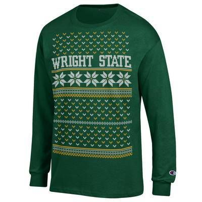 Celebrate the holiday season with this festive Wright State gear!