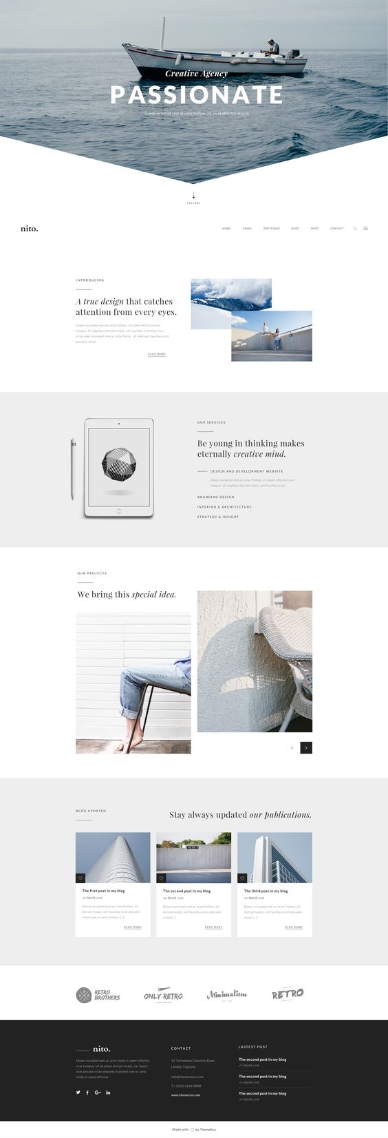 Nito A Clean Minimal Multi Purpose Psd Template Psd Templates