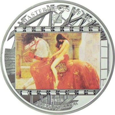 20 Dollar Silber Masterpieces of Art - John Collier PP