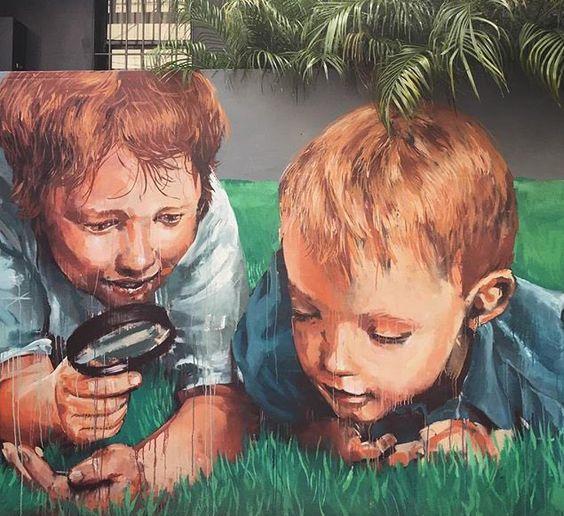 Street Art by Fintan Magee    #art #graffiti #mural #streetart https://t.co/9dg8gjcShk