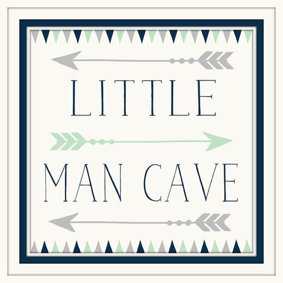Baby Boy Nursery Decor  Little Man Cave  Navy  by ArtsyPumpkin