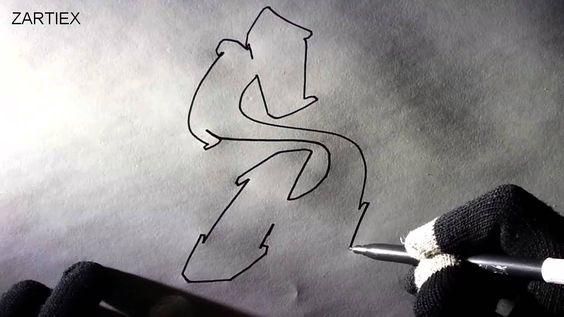 Como hacer letras de graffitis abecedario fáciles