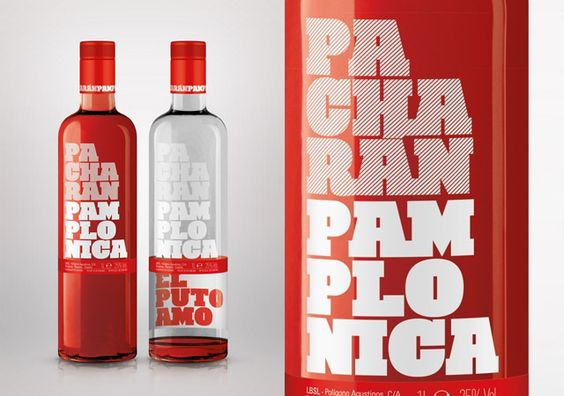 """Even though we know very little about this awesome bottle design we absolutely love it. Licores Baines reinvents the traditional world of its most famous liquor with Pacharán Pamplonica, a new drink targeting young people that provides a visual challenge on finishing the bottle: the special proposal appears on the inside of the rear label, """"El Puto Amo""""."""
