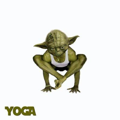 Yoda...Yoga? | Laughing Lotus | Pinterest | Yoga