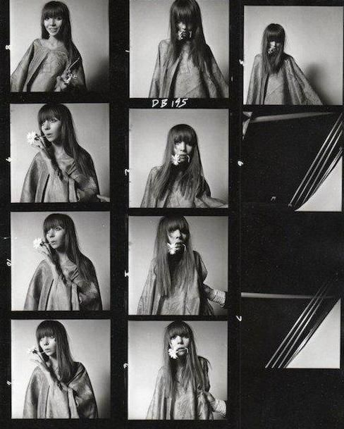 contact sheet from David Bailey of Penelope Tree