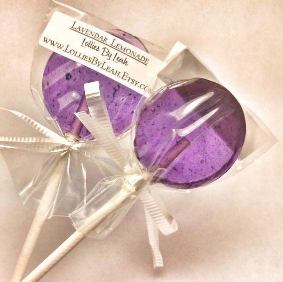 Lavender Lemonade  12 Lollipops  Delicious Lemon Flavor w/ Floral Notes. Mmmm. by LolliesByLeah