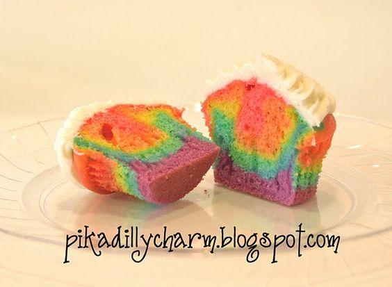 tye-dye cupcakes