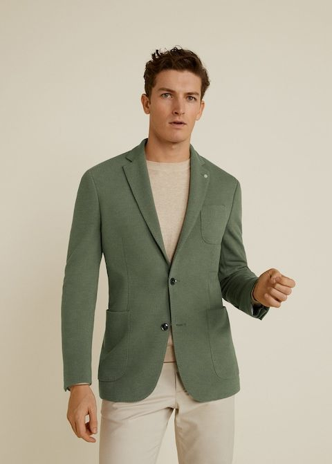 Cotton blazer men, Casual blazer