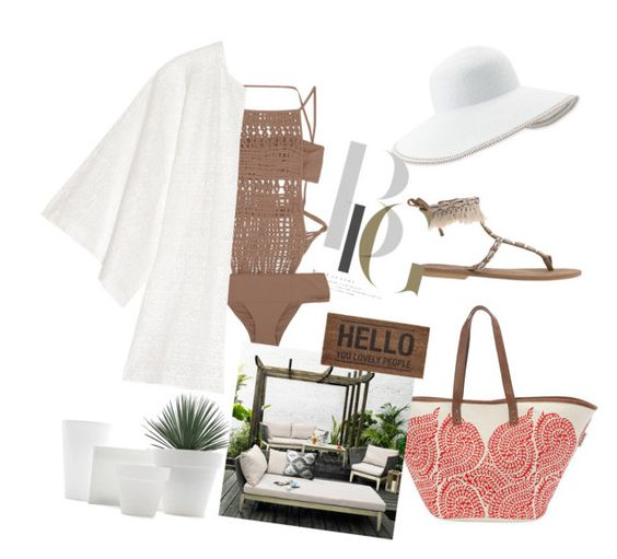 """""""Soft colours"""" by tiraboschi-b ❤ liked on Polyvore featuring La Perla, Eric Javits, W118 by Walter Baker, Sun N' Sand and John Lewis"""
