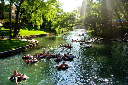 Floating down the Guadalupe River in Texas!!