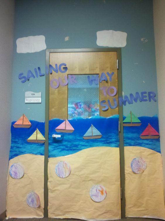 Summer Classroom Decorating Ideas ~ Classroom door for summer the eibi pinterest