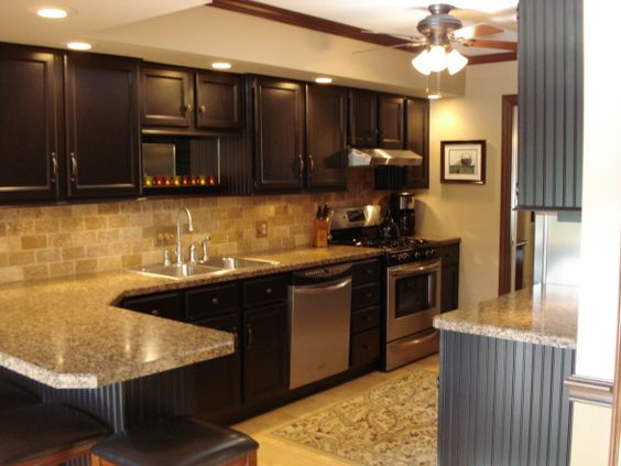 Updated Kitchen Year Update Painting Cabinets Adding Wainscoting Crown On Sich