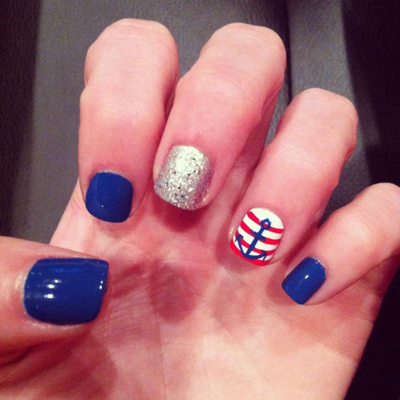 fourth of july nail designs easy