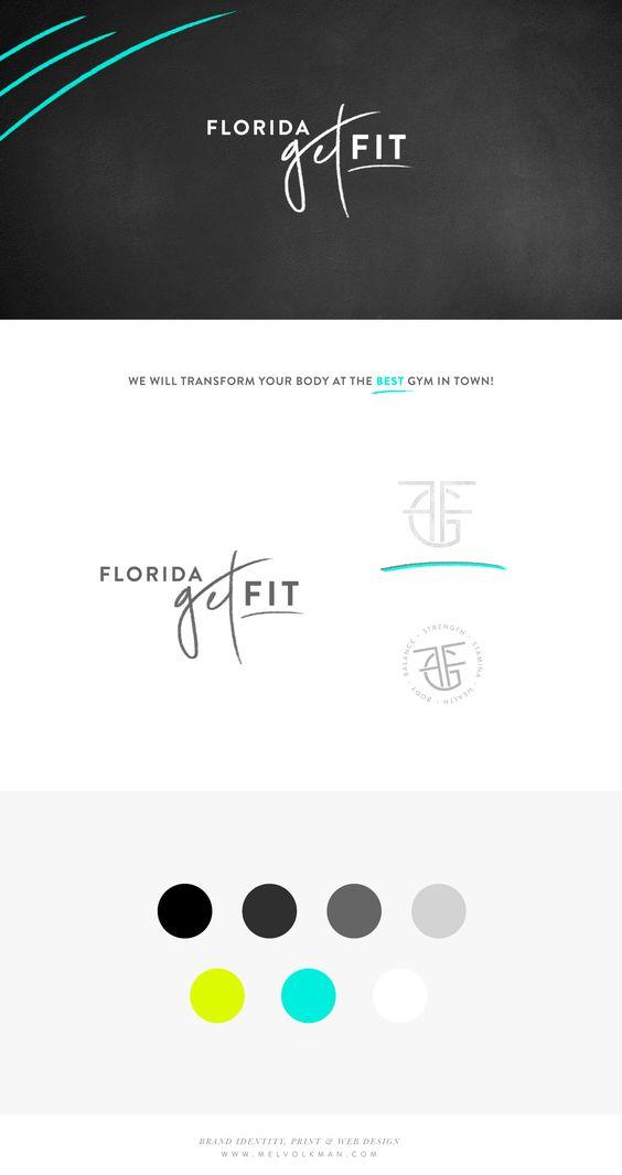 Mel Volkman St Augustine Graphic Design Web Design Brand Identity Florida Get Fit St Augustine Gym Handlettering Logo Website Fitness Brand