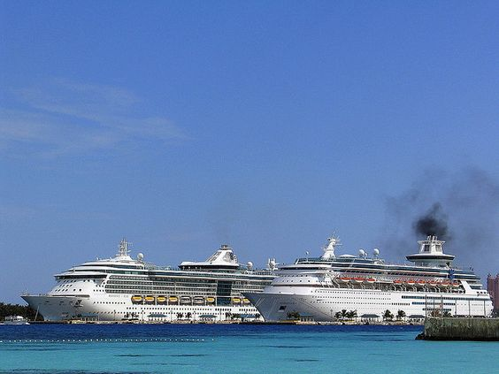 The ship, Millennium, for Celebrity Cruise Lines pulls into port in Nassau, Bahamas.     /Celebrity cruise line